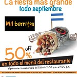 TODO septiembre MIL BURRITOS discounts - 05sep14