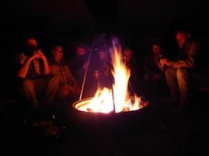 Spoonfest 2014 campfire