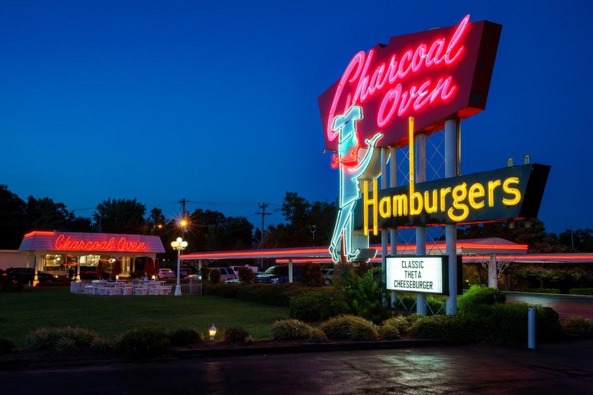 Charcoal Oven Hamburgers - Oklahoma City, Oklahoma U.S.A. - September 5, 2016