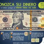 Conozca su dinero BILLETE de 10 dolares