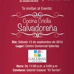 EVENTO cocina criolla salvadoreña GALERIAS escalon - 09sep14