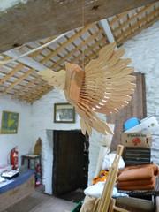 wooden fan bird