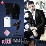 An elegant MAN touch black white plus color