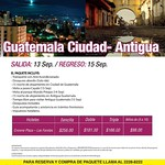 TRAVEL promotions GUATEMALA ciudad antigua - 10sep14