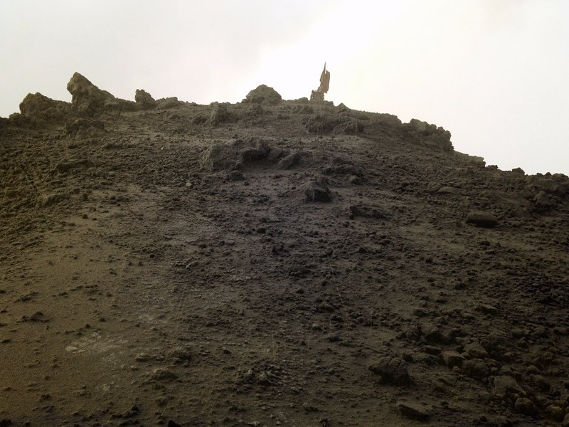 The summit of Mount Kerinci