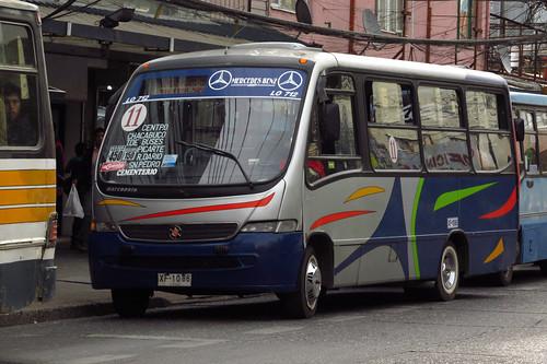 Valdivia - Línea 11 | Transportes San Pedro | Marcopolo Senior / Mercedes Benz (XF1086)