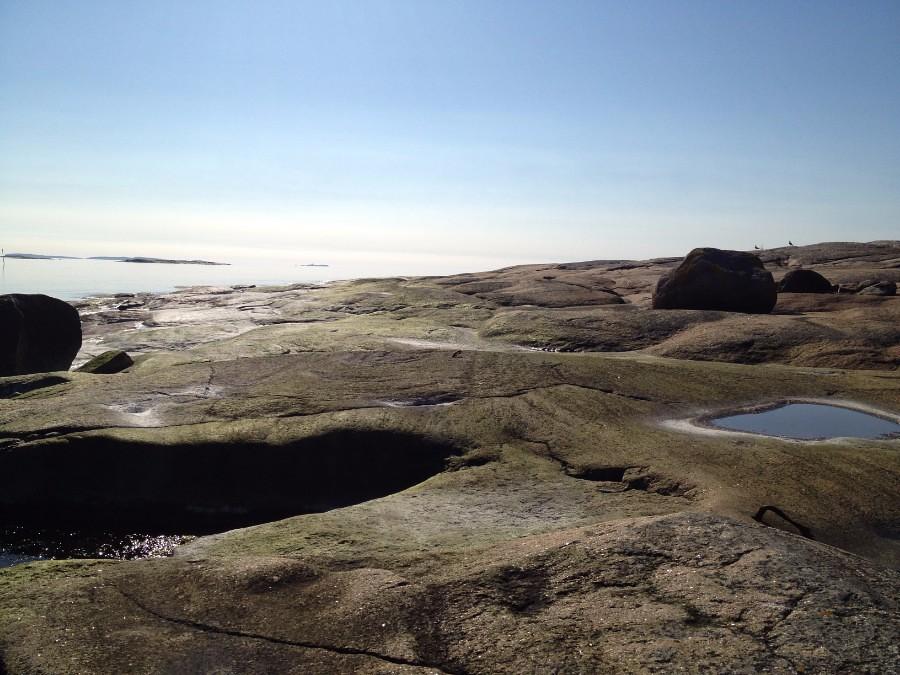 beautiful rocky landscape in southern norway near fredrikstad