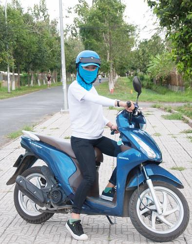 nón có khẩu trang chống nắng đi xe máy đội nón bảo hiểm Cần Thơ