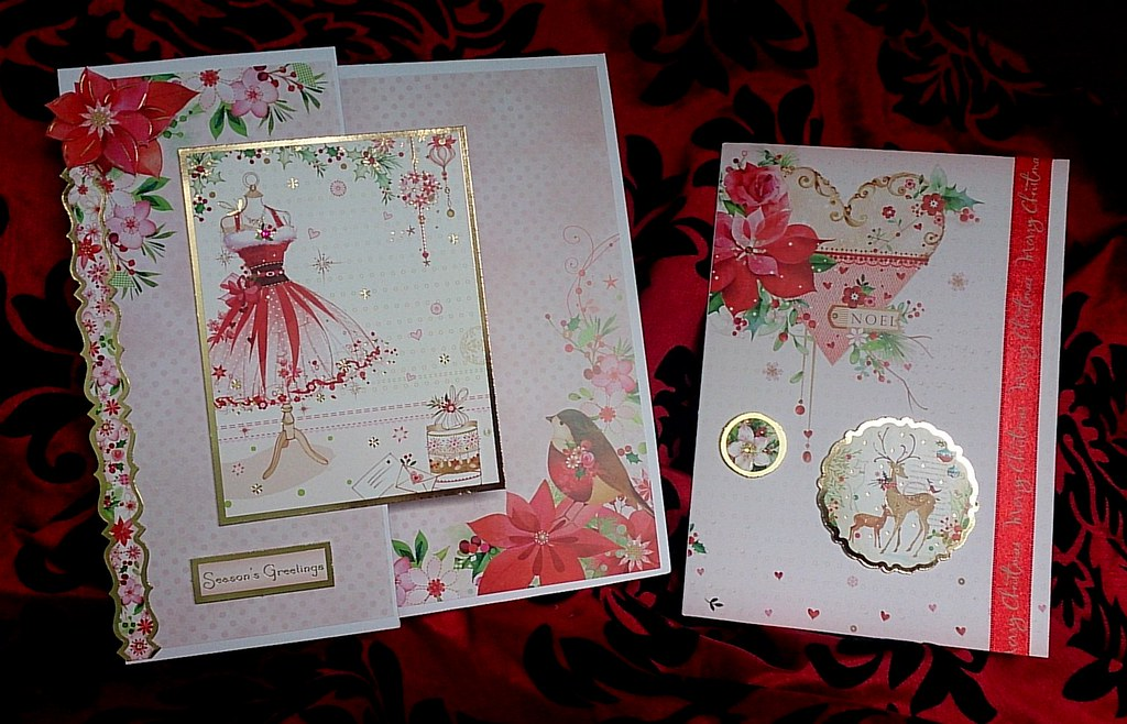Handmade Christmas Cards 2014 Two More Cards Using The