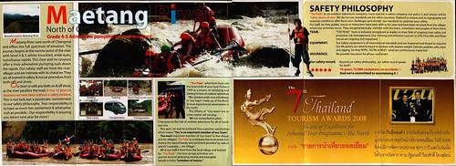 Brochure The Peak Adventure White Water Rafting Chiang Mai Thailand 2