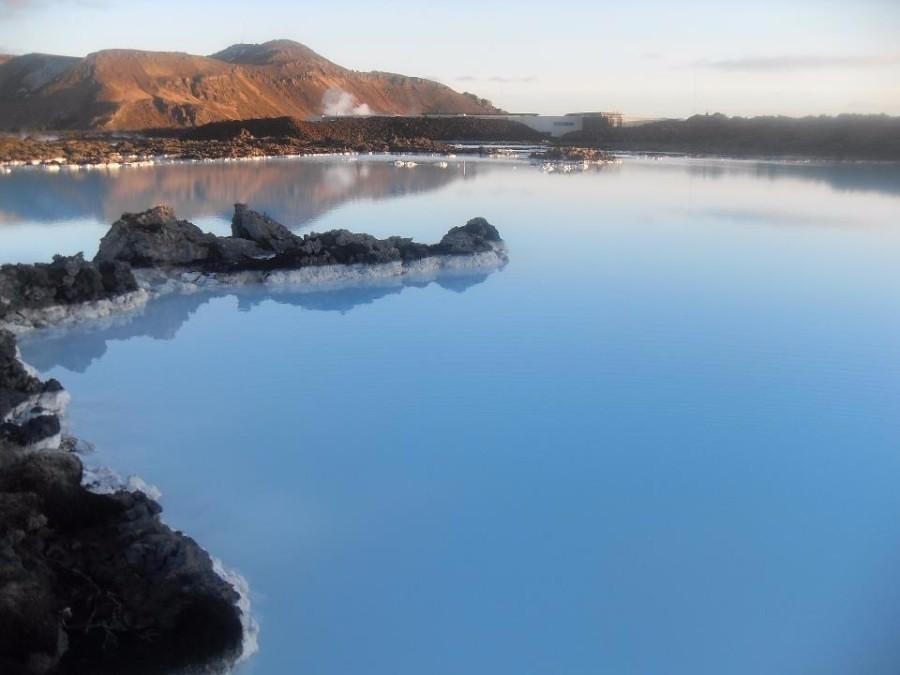 amazingly beautiful blue lagoon lake in iceland