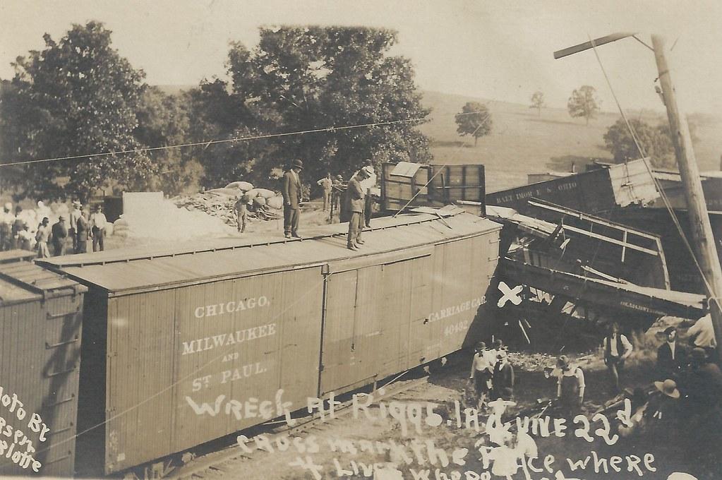 1915 Railroad Map Iowa History