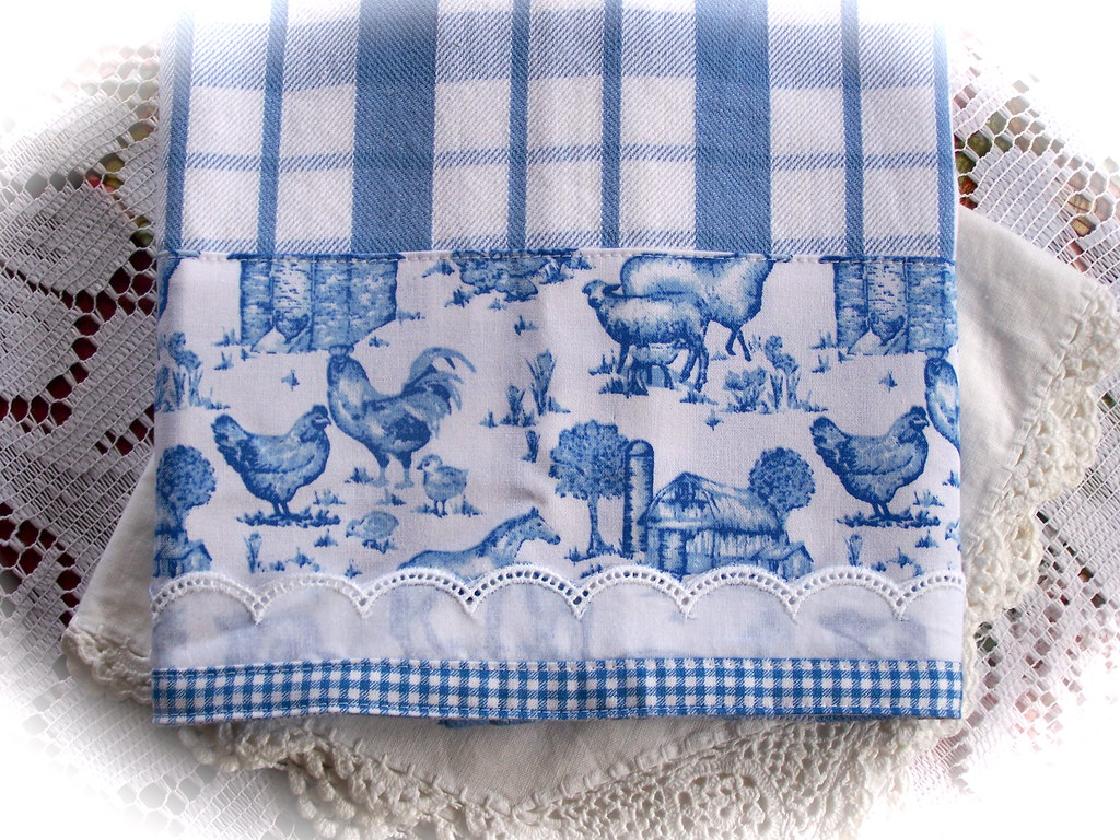 Tea Towels Decorated For Country Kitchen Decorate A Tea