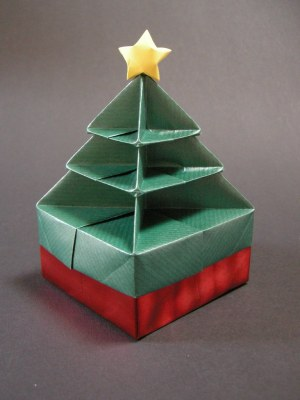Christmas tree box | Folded from this picture, with some mod… | Flickr