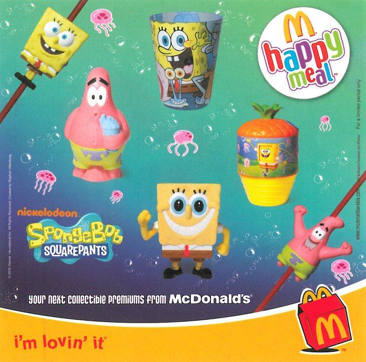 McDonalds SpongeBob SquarePants Happy Meal 2010 Justin