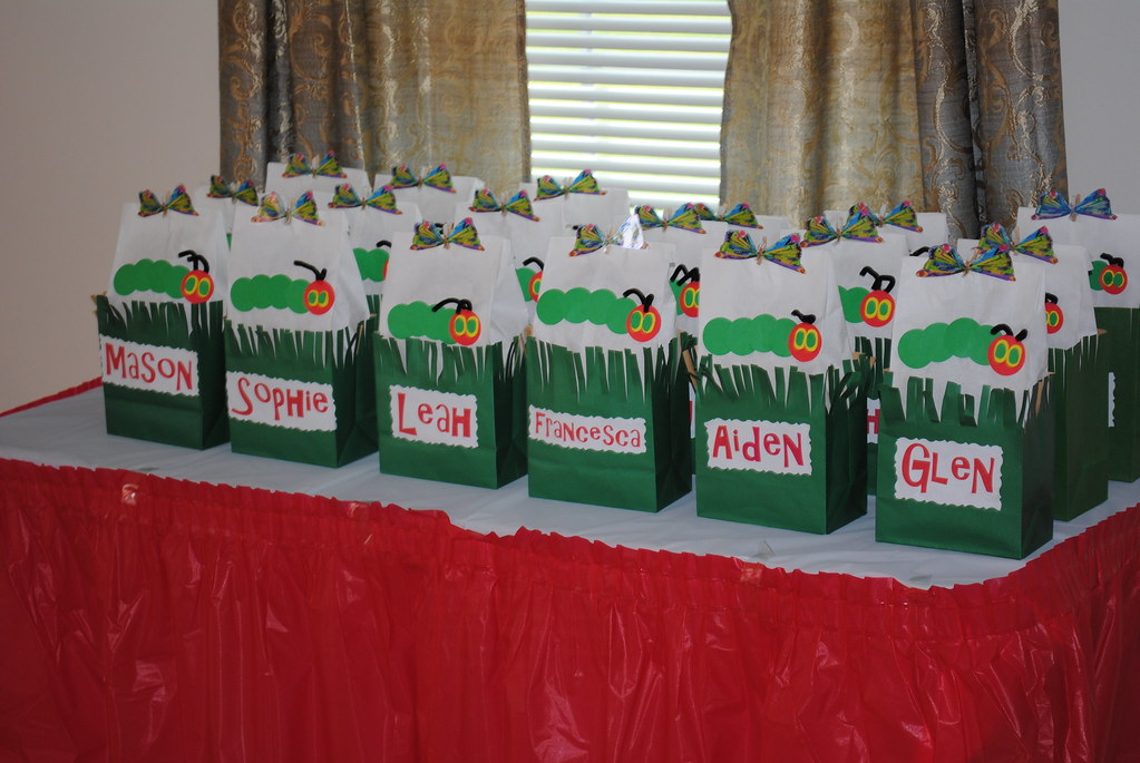 A Very Hungry Caterpillar Party Personalized Gift Bags