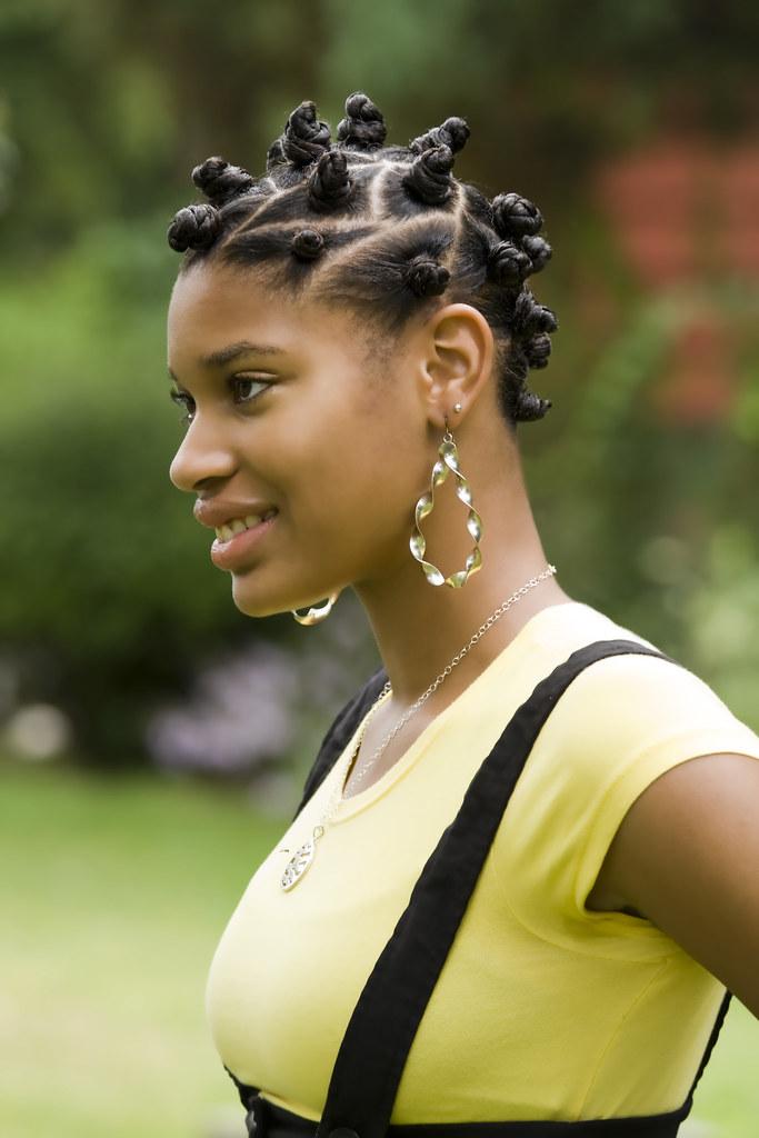 Nubian Knots Beautiful Afro American Girl With Nubian