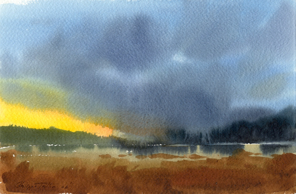 Stormy Weather Watercolor Stormy Weather 11X75