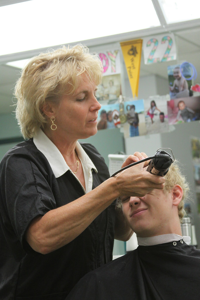R Day Class Of 2015 Barber Cindy DeMaro Cuts A New Cadet