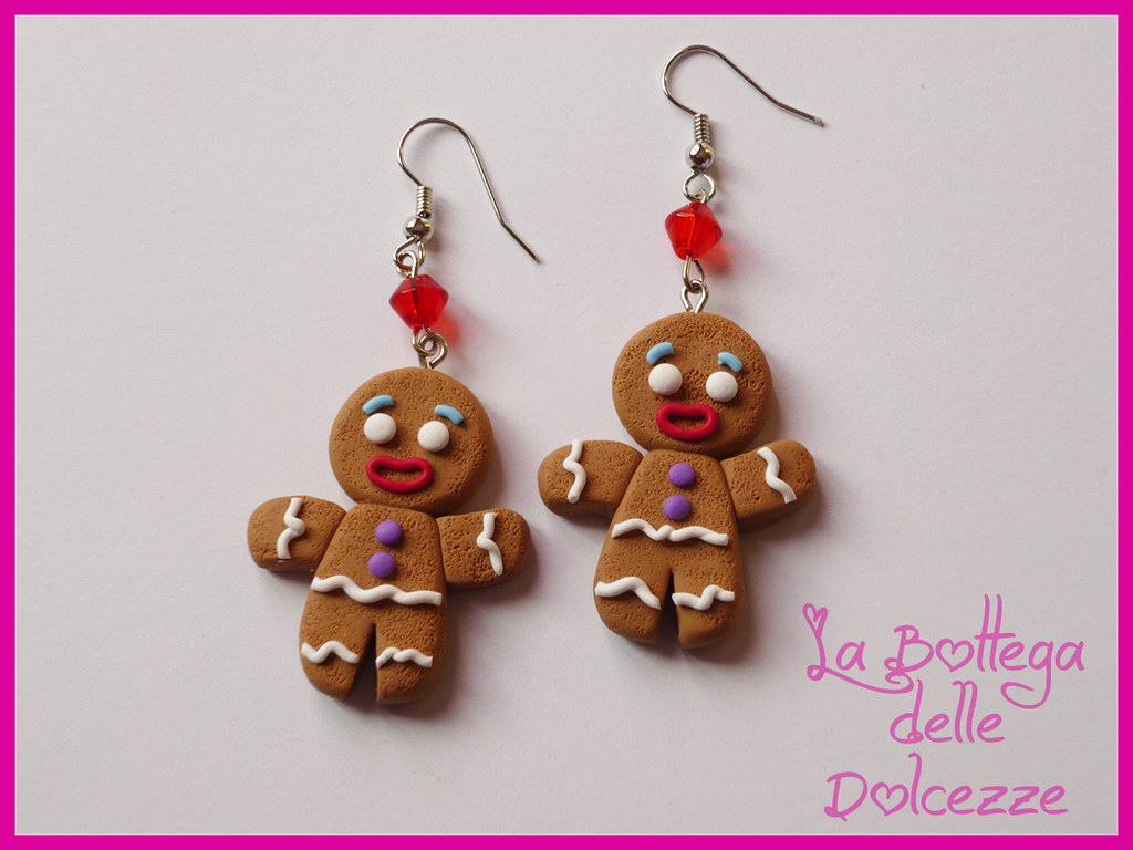 Gingerbread Earrings Handmade With Polymer Clay Monica