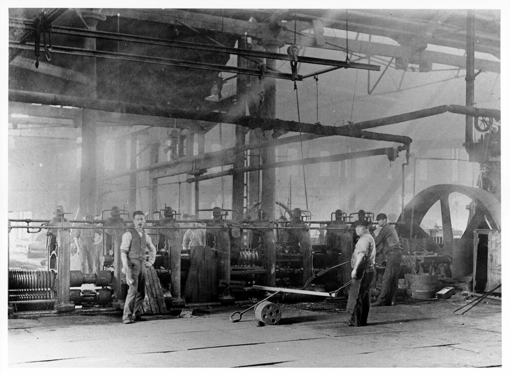 Midvale Steel Company Workers Assigned To Quot Rolling Mill 12