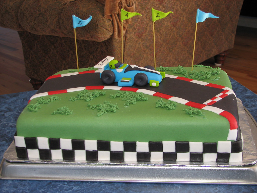 Cake Fondant Race Car Birthday