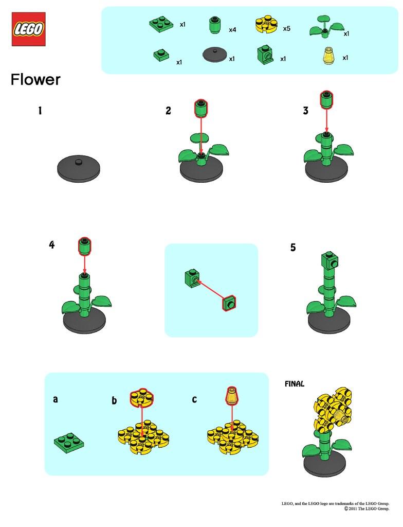LEGO Store MMMB May 11 Flower Instructions LEGO