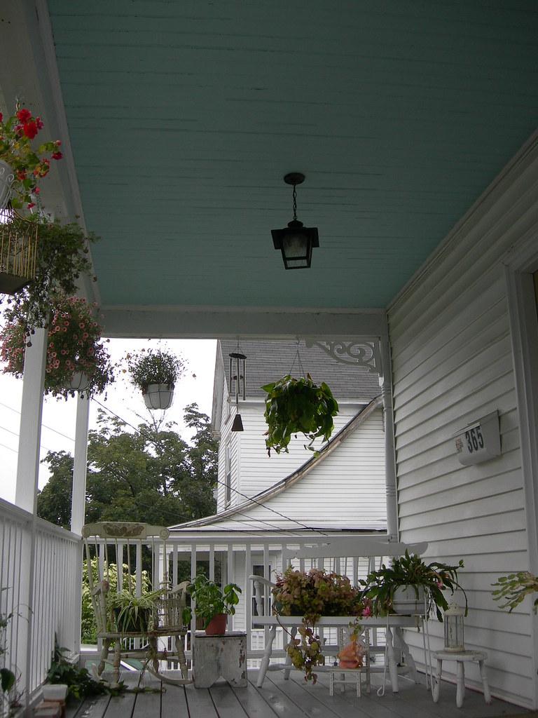 Haint Blue Victorian Porch Ceiling Haint Blue Victorian