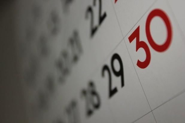 Image result for checking off calendar dates