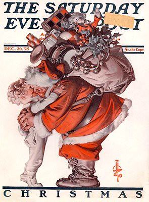 Saturday Evening Post Christmas Santa Cover CharmaineZoe