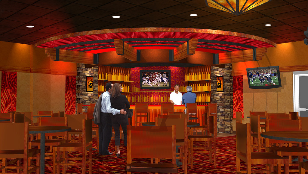 Casino Bar Rendering Bar Decor Design Interior Bar Ren