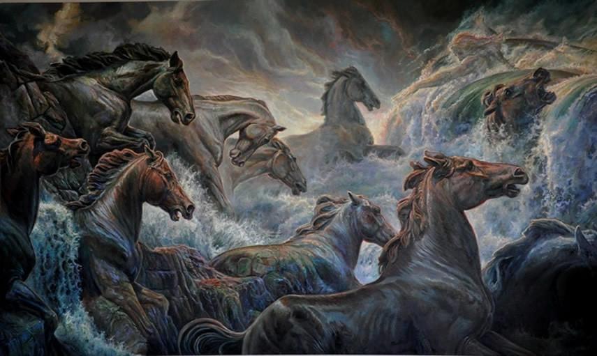 And Trident Horse Poseidon