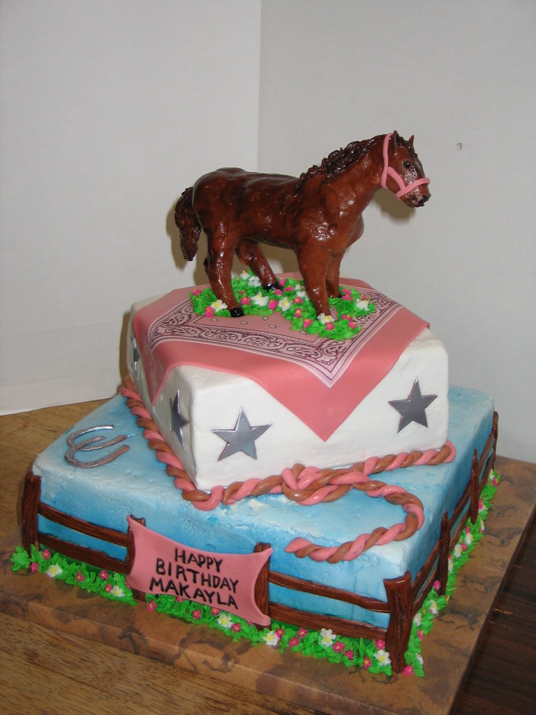 Horse Themed Birthday Cake The Horse Was Sculpted From