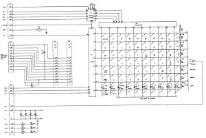 BBC Model B Keyboard Circuit | This is the circuit diagram
