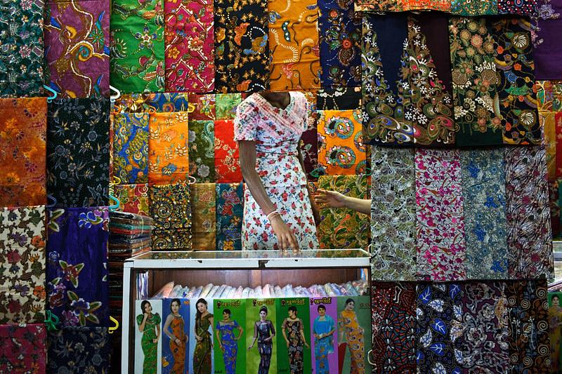 Fabric Store - Yangon, Myanmar