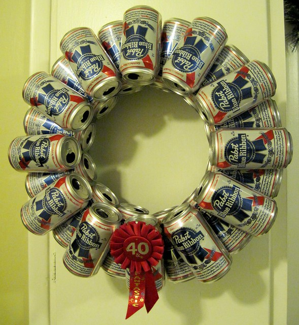 beer can wreath