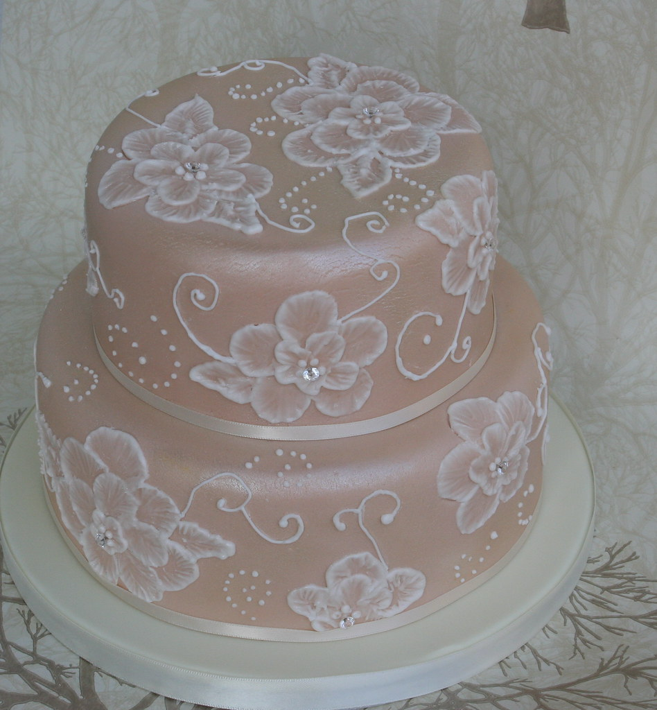 Brush Embroidery Cake My First Attemptenough Said