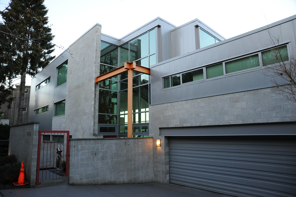 Large Contemporary Concrete Block, Glass And Steel House