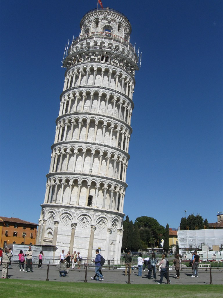 Leaning Tower Pisa World Map