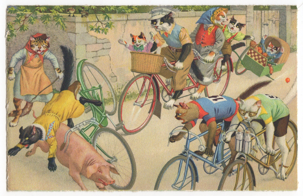Mainzers Cats Cycling Artist Eugen Hartung Or
