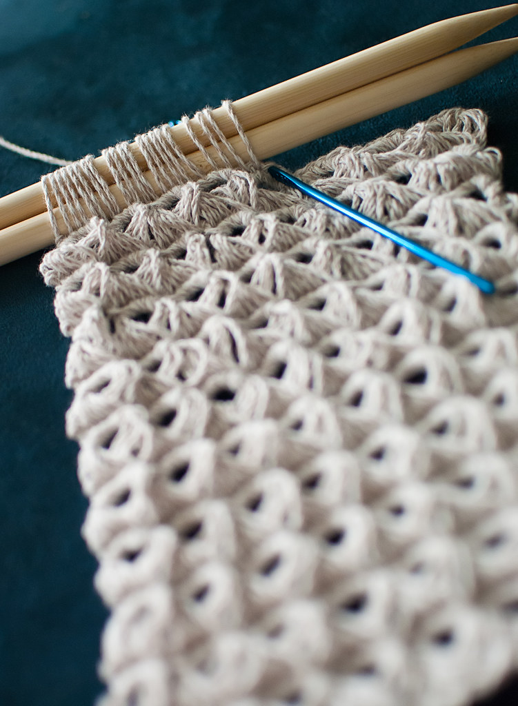 Broom Stick Lace Crochet Afghan Pattern