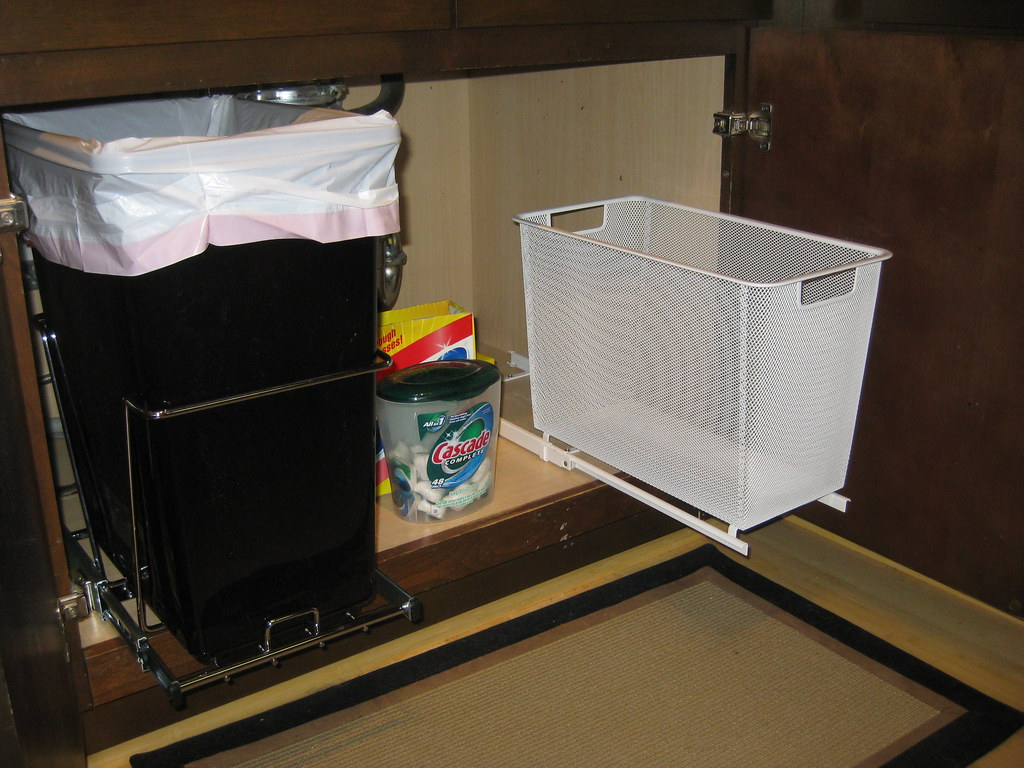 Kitchen Trash And Recycling Bins Installed!