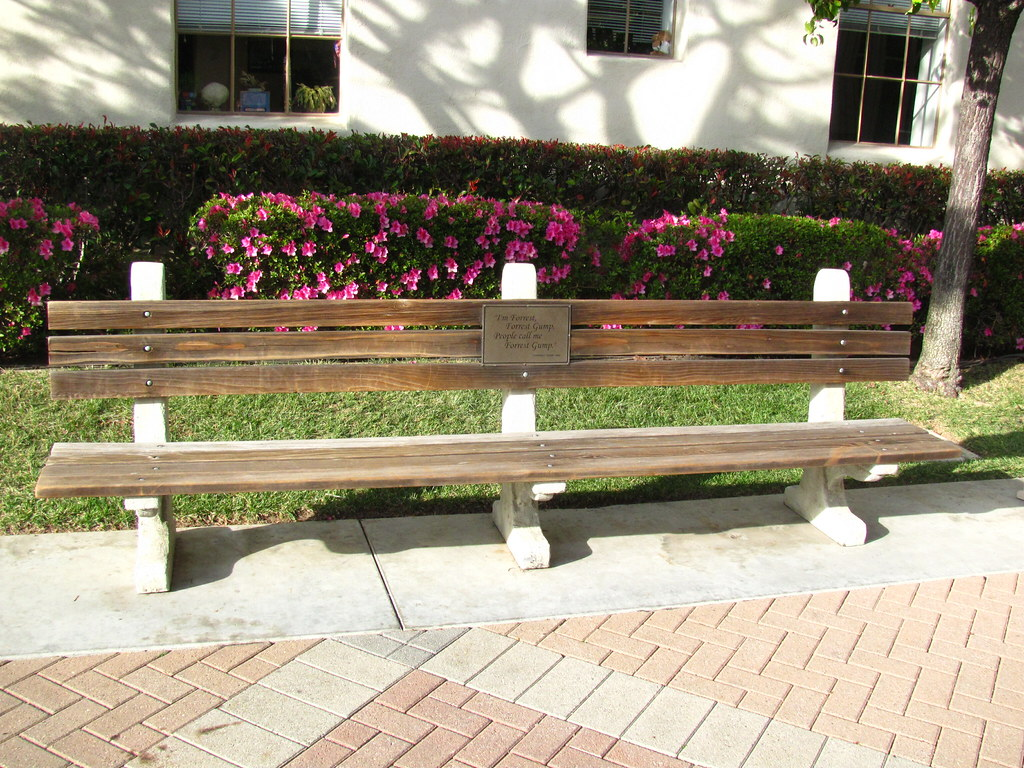 The Forrest Gump Bench At Paramount Studios