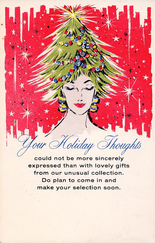 Salesman Sample Christmas Advertising Postcard Late 60s
