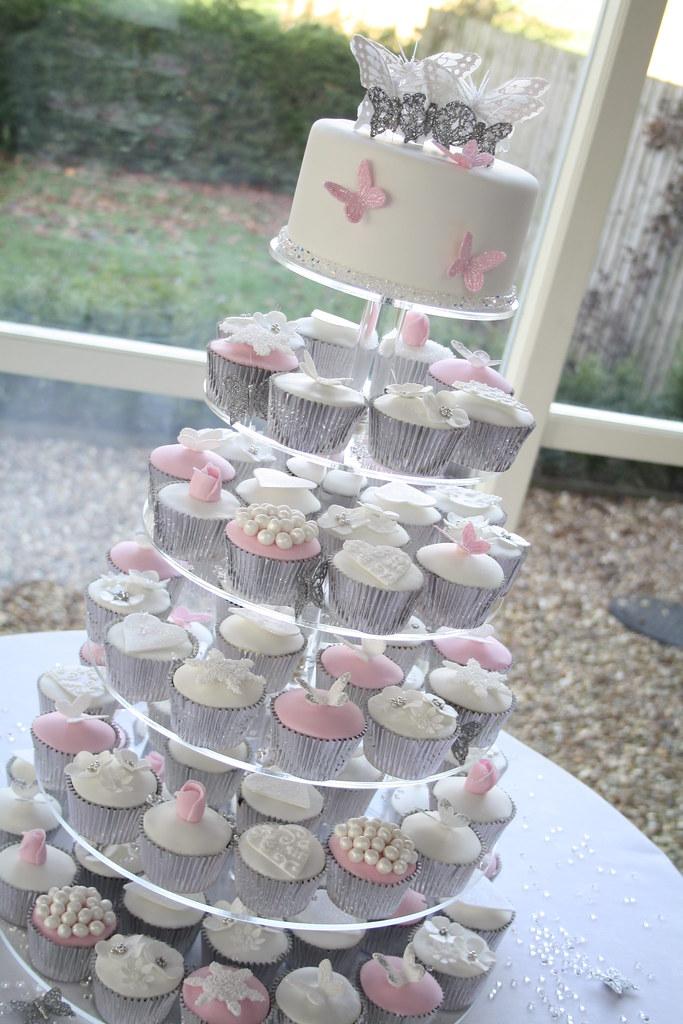 Winter Wonderland Wedding Cupcakes This Was Set Up At A