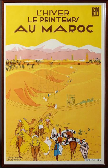 Derche 1929 L Hiver Le Printemps Au Maroc Trains Plm Marak