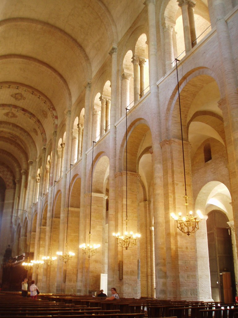 Nave Arcade St Sernin Toulouse The Basilica Of St