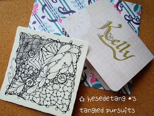 Zentangles - New tangle Cabbit and Diva Challenge Wk 222 (1/6)