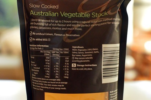 Woolworths vegetable stock nutrition information