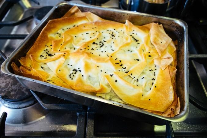 Spanakopita, net uit de oven
